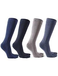 靴下 ソックス メンズ セット 5本指 五本指ソックス 男性用 ビジネスソックス 抗菌 防臭 通気性抜群 100%綿 3足組 4足組