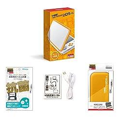 【Amazon.co.jp限定】【液晶保護フィルム付き (抗菌タイプ) 】Newニンテンドー2DS LL ホワイト×オレンジ+ハードケース for Newニンテンドー2DS LL ライトオレンジ+USB充電ケーブル