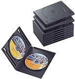 エレコム DVDトールケース 標準サイズ 2枚収納 10個セット ブラック CCD-DVD06BK