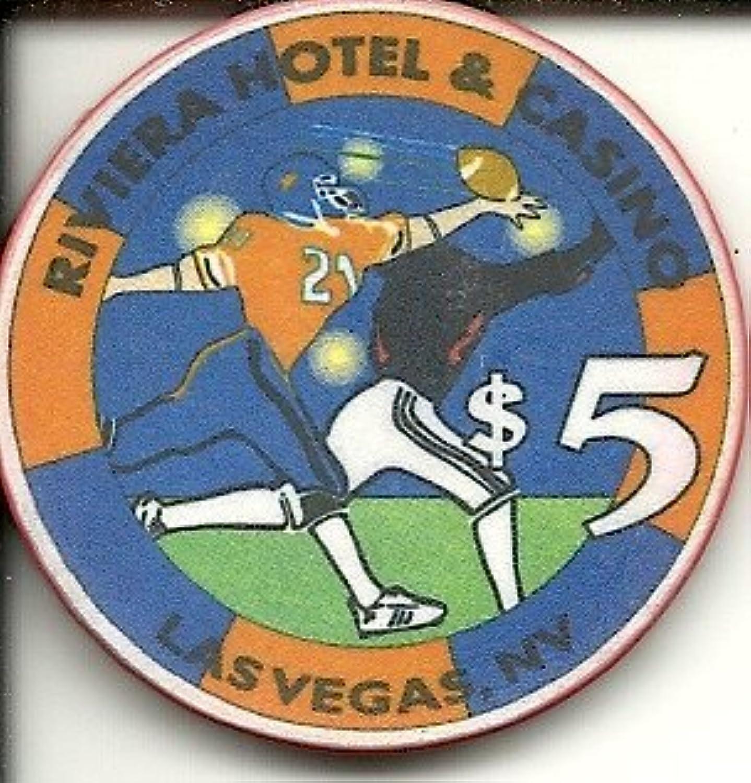 $ 5 Riviera Wide Receiver Obsoleteラスベガスカジノチップ