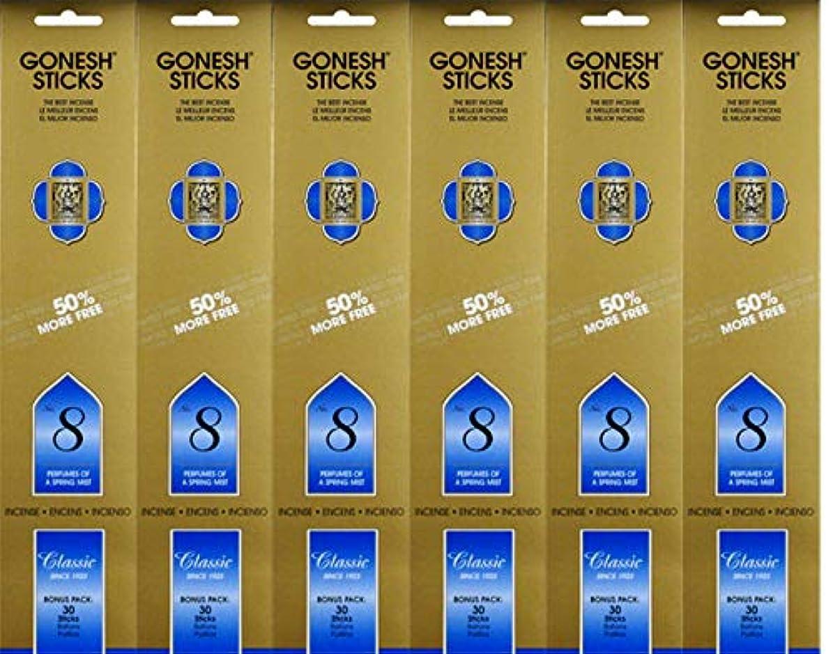 コンピューター抵抗インシュレータGonesh #8 Bonus Pack 30 sticks ガーネッシュ#8 ボーナスパック30本入 6個組 180本