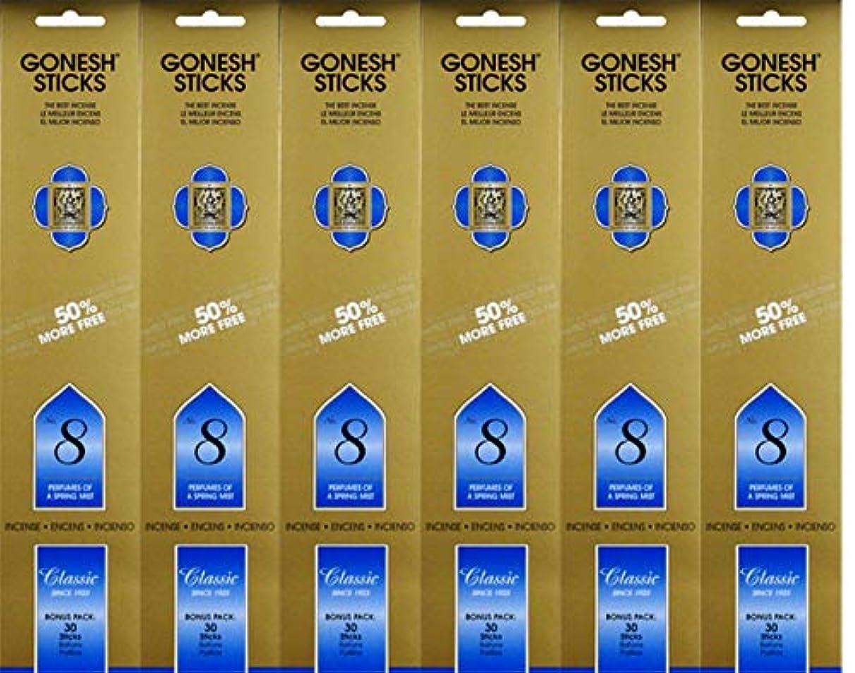 統合窓を洗うマイクGonesh #8 Bonus Pack 30 sticks ガーネッシュ#8 ボーナスパック30本入 6個組 180本