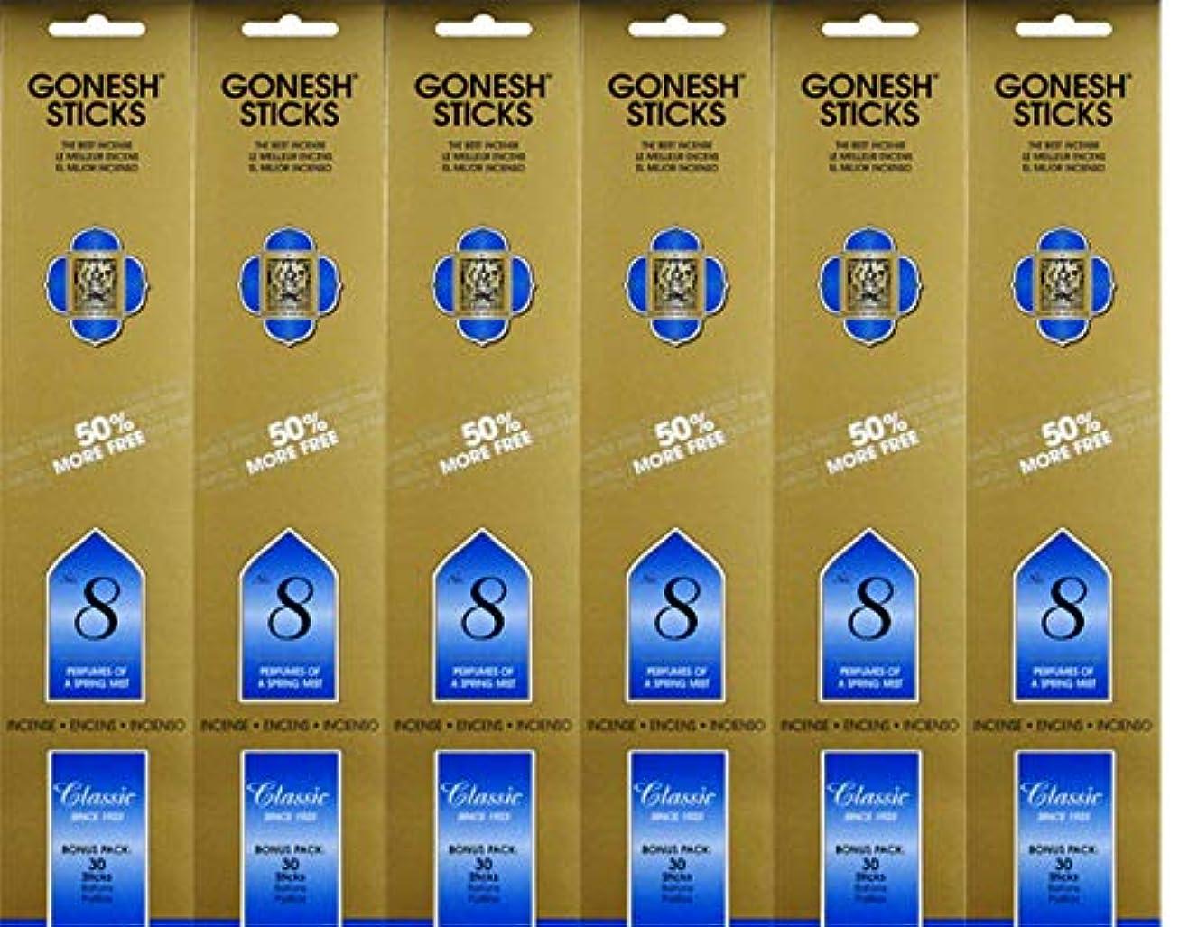 サラダ代数収益Gonesh #8 Bonus Pack 30 sticks ガーネッシュ#8 ボーナスパック30本入 6個組 180本