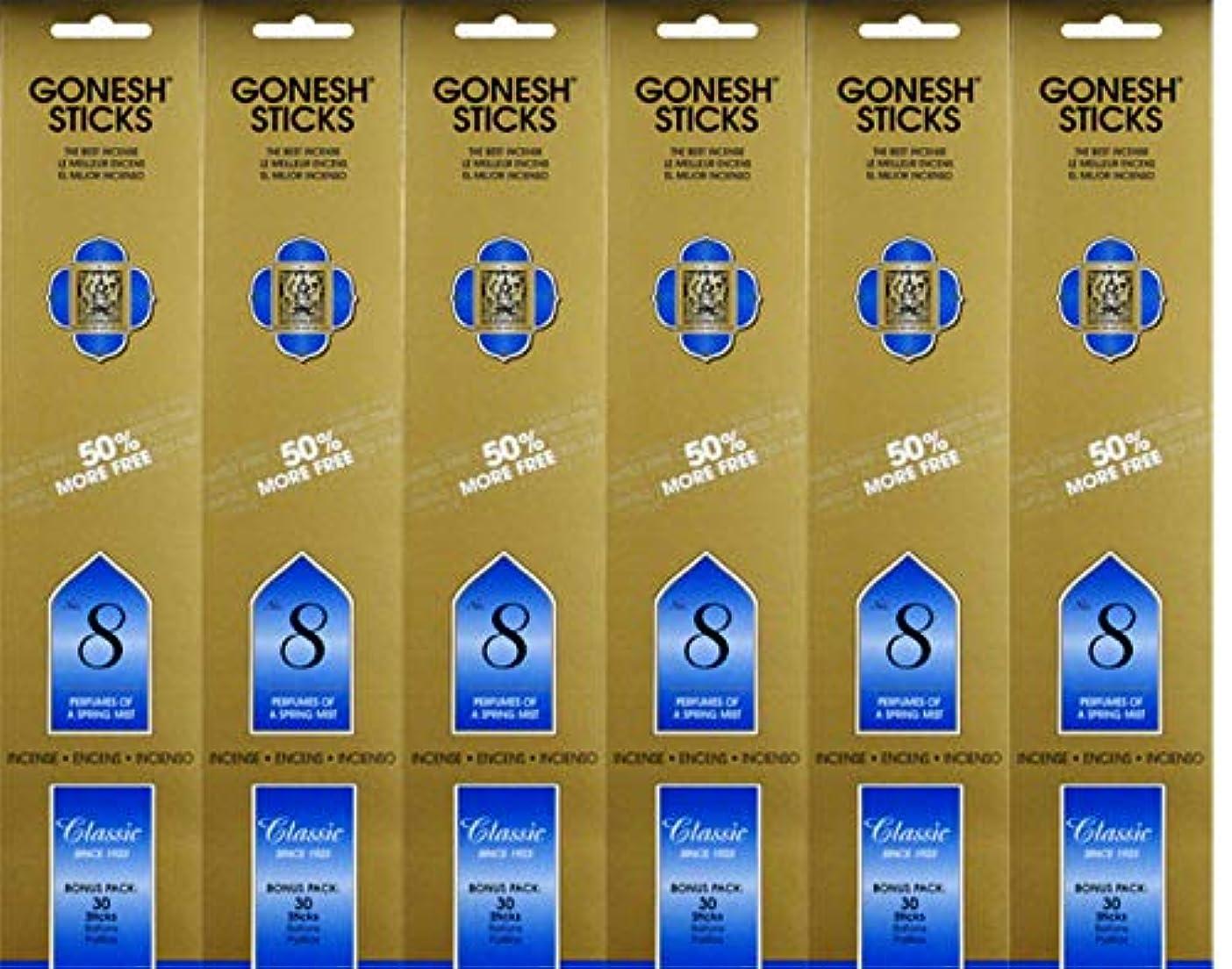 衰える探検汚すGonesh #8 Bonus Pack 30 sticks ガーネッシュ#8 ボーナスパック30本入 6個組 180本