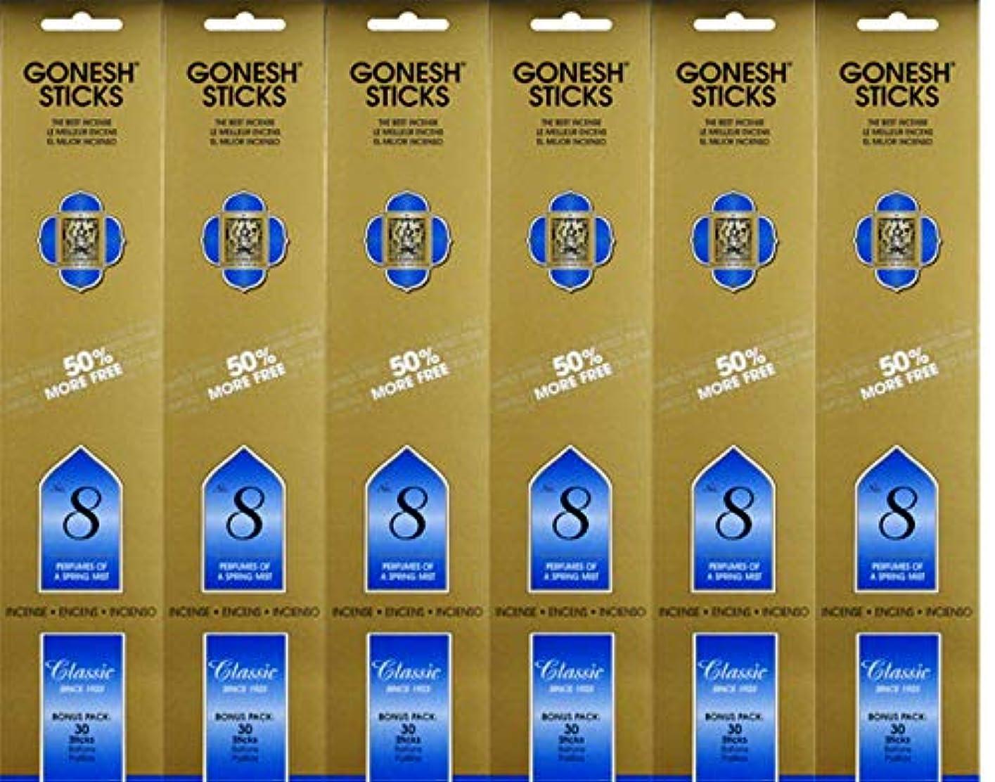 微弱便宜どこGonesh #8 Bonus Pack 30 sticks ガーネッシュ#8 ボーナスパック30本入 6個組 180本