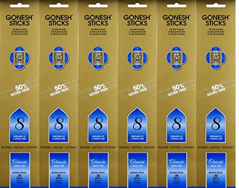 経度ブレーキペリスコープGonesh #8 Bonus Pack 30 sticks ガーネッシュ#8 ボーナスパック30本入 6個組 180本