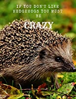 If You Don't Like Hedgehogs You Must Be Crazy: A Large Cute Hedgehog Notebook Journal