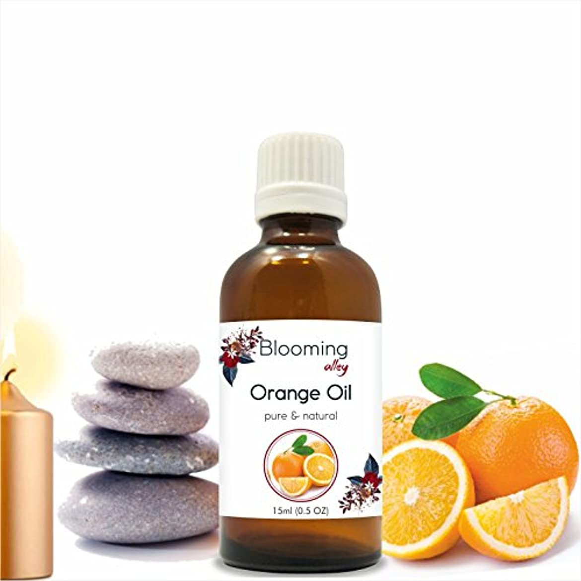 レザーステートメント手Orange Oil (Citrus Aurantium) Essential Oil 15 ml or .50 Fl Oz by Blooming Alley
