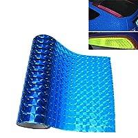 車の外装アクセサリー 3D効果キャットアイ車ヘッドライトフィルムテールライトビニールフィルム、サイズ:30cm x 100cm オートフリム (色 : Dark Blue)