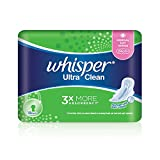 Whisper Ultra Clean Regular Flow Light/Normal Day Wings Sanitary Pads, 24cm, 18ct