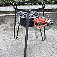 XtremepowerUS Electric Igniterポータブル単一アルファバーナープロパンガスストーブ範囲キャンプグリル料理W / Cast Iron Stand