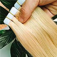 FidgetGear 再使用可能なRemyの人間の毛髪延長の7A継ぎ目が無い16-26inch PUの皮のよこ糸テープ #24金髪