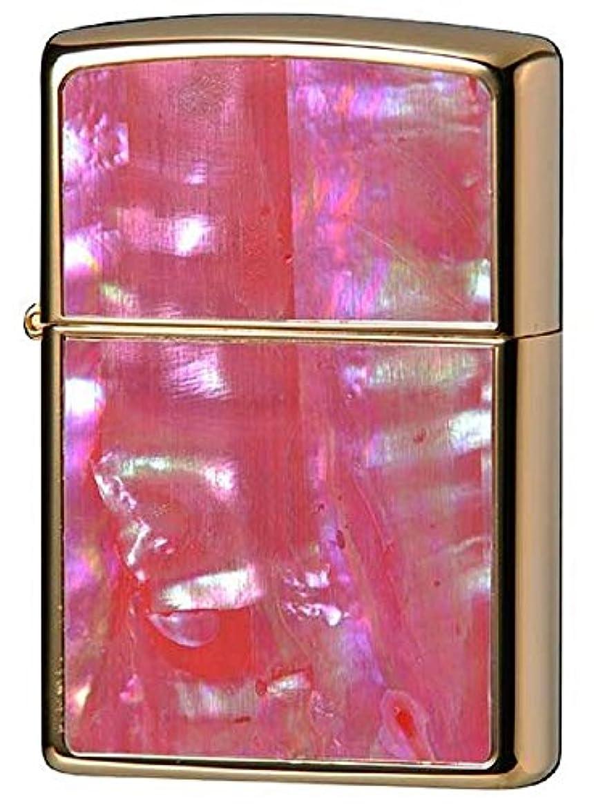 壊滅的な馬力錫ZIPPO(ジッポー) ライター 貝貼り ロゴ ゴールドメッキ 2G-ZSHELL