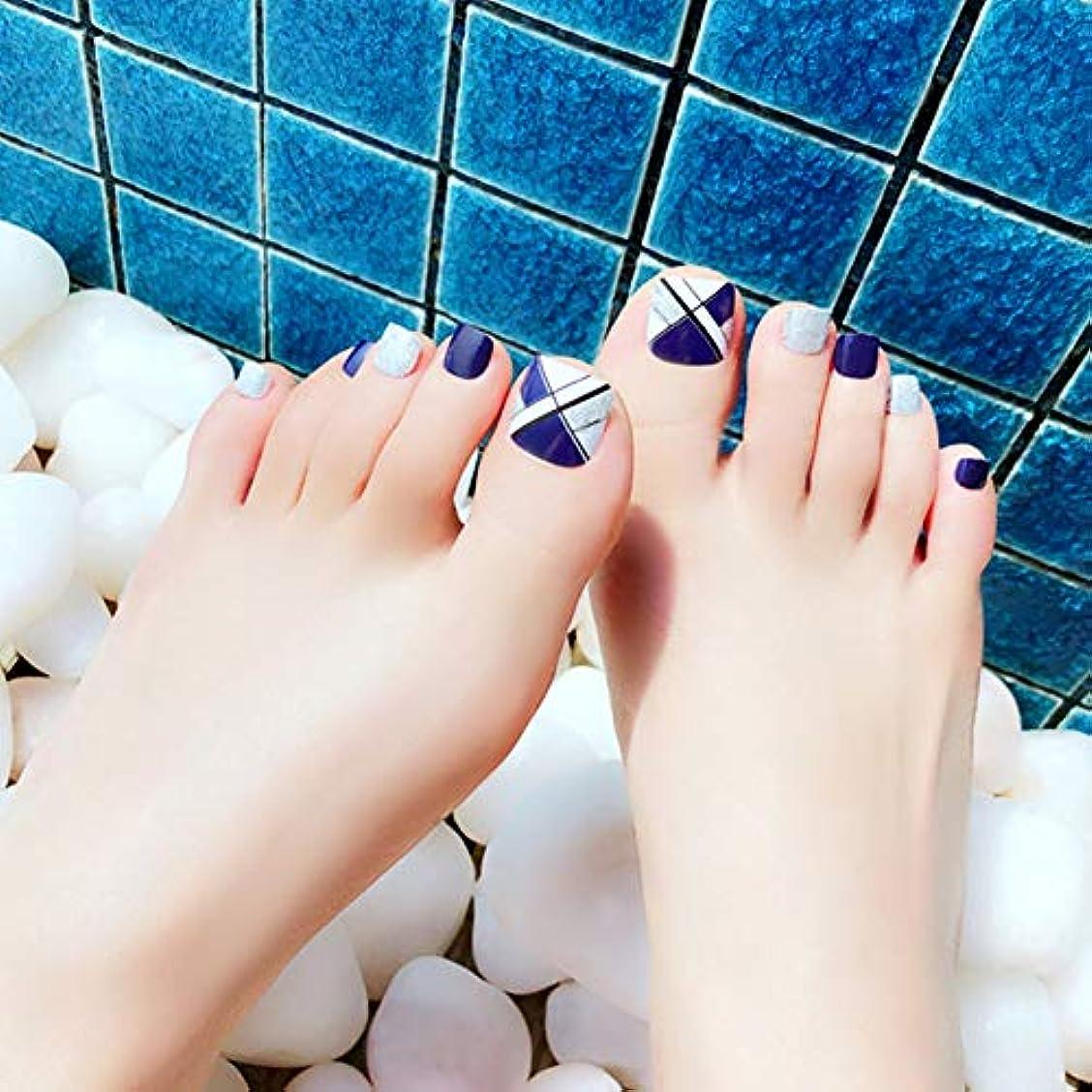 妖精シャイニング不実HuangHM 小さいな足の小指にも最適 つけ爪 付け爪 ジェルネイル ネイルアートフットタイプネイルチップ 24枚入り12サイズ各2枚 足用フットチップ ペディキュア フットネイルチップ