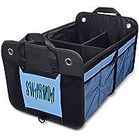 Swarmda 車用収納ボックス トランク収納 車載バッグ 大容量 折り畳み式 車内用 整理 カーグッズ 収納ボックス 整理箱 トラック/SUV/軽自動車にも適合
