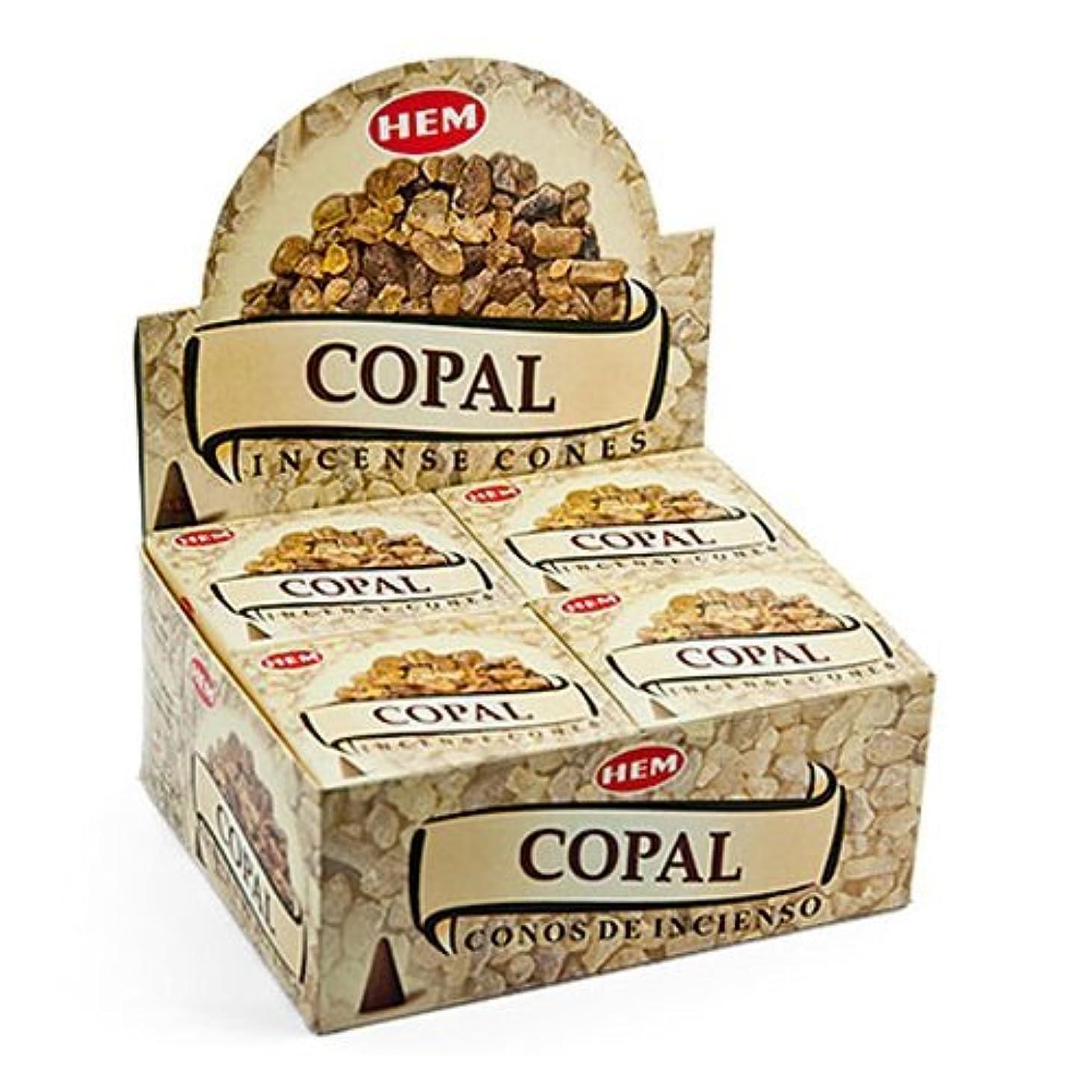インレイ上に自発裾Copal Cones Incense – 4パック、10 Cones 1パック