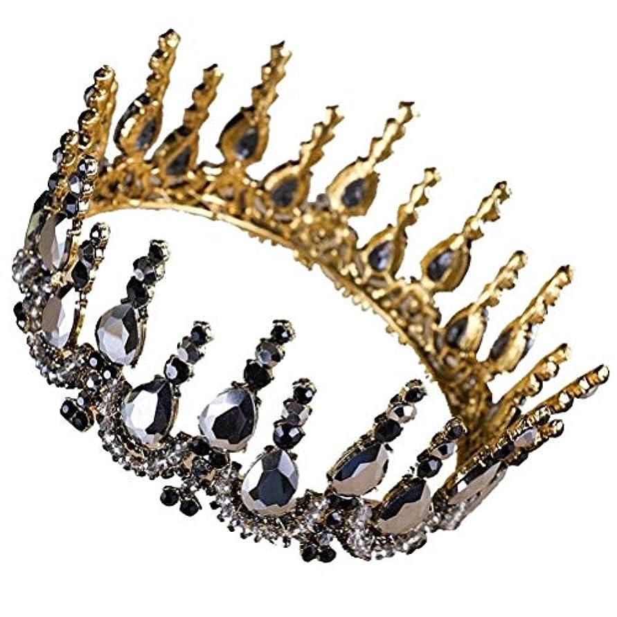 しつけ創傷グラフィックLURROSE 結婚式のティアラバロックラインストーンの女の子の王女の結婚式のためのヘアアクセサリー