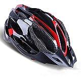 サイクリング自転車用ヘルメット ヘルメットカラーヘルメットウルトラライトライディングヘルメットバイクヘルメットロードワンフォーミングマウンテンハット男性と女性の機器 スポーツ用保護ヘルメット (色 : Red)