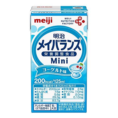 明治メイバランス ミニ mini ヨーグルト味125ml 24個セット