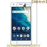 3枚セット ワイモバイル Android One S4 DIGNO J 液晶保護フィルム 高光沢 クリア