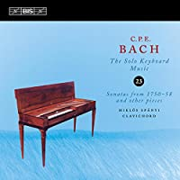 C.P.E.バッハ:鍵盤独奏曲全集 Vol.23 (C.P.E.Bach : The Solo Keyboard Music 23 - Sonatas from 1750-58 and other pieces / Miklos Spanyi ; Clavichord)