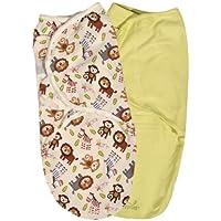 サマー乳児用SwaddleMe 調節可能な幼児用ラップ ジャングルバディー Sサイズ/M 2カウント