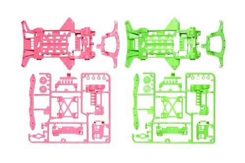 タミヤ ミニ四駆限定シリーズ スーパーXX 蛍光カラーシャーシセット (ピンク/グリーン) 94827