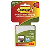 Command 3M 12ct Pack Picture & Frame Hanging Strips Sets Medium Size White Damage-Free 【Creative Arts】 [並行輸入品]