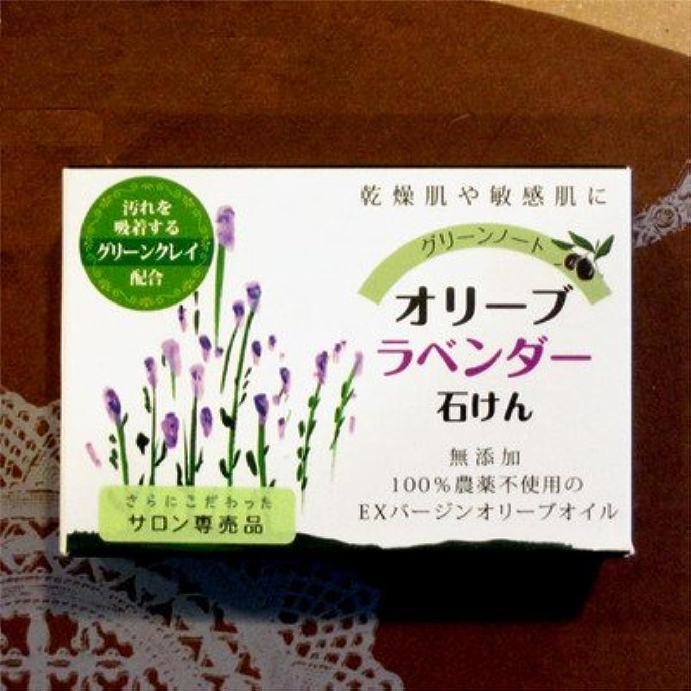 桃宿題擁するグリーンノート オーガニック ハーブ ソープ 無農薬 無添加 オリーブ ラベンダー せ鹸 100g