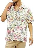 ROUSHATTE(ルーシャット) 大きいサイズ メンズ シャツ アロハシャツ 柄シャツ 開襟 コットン