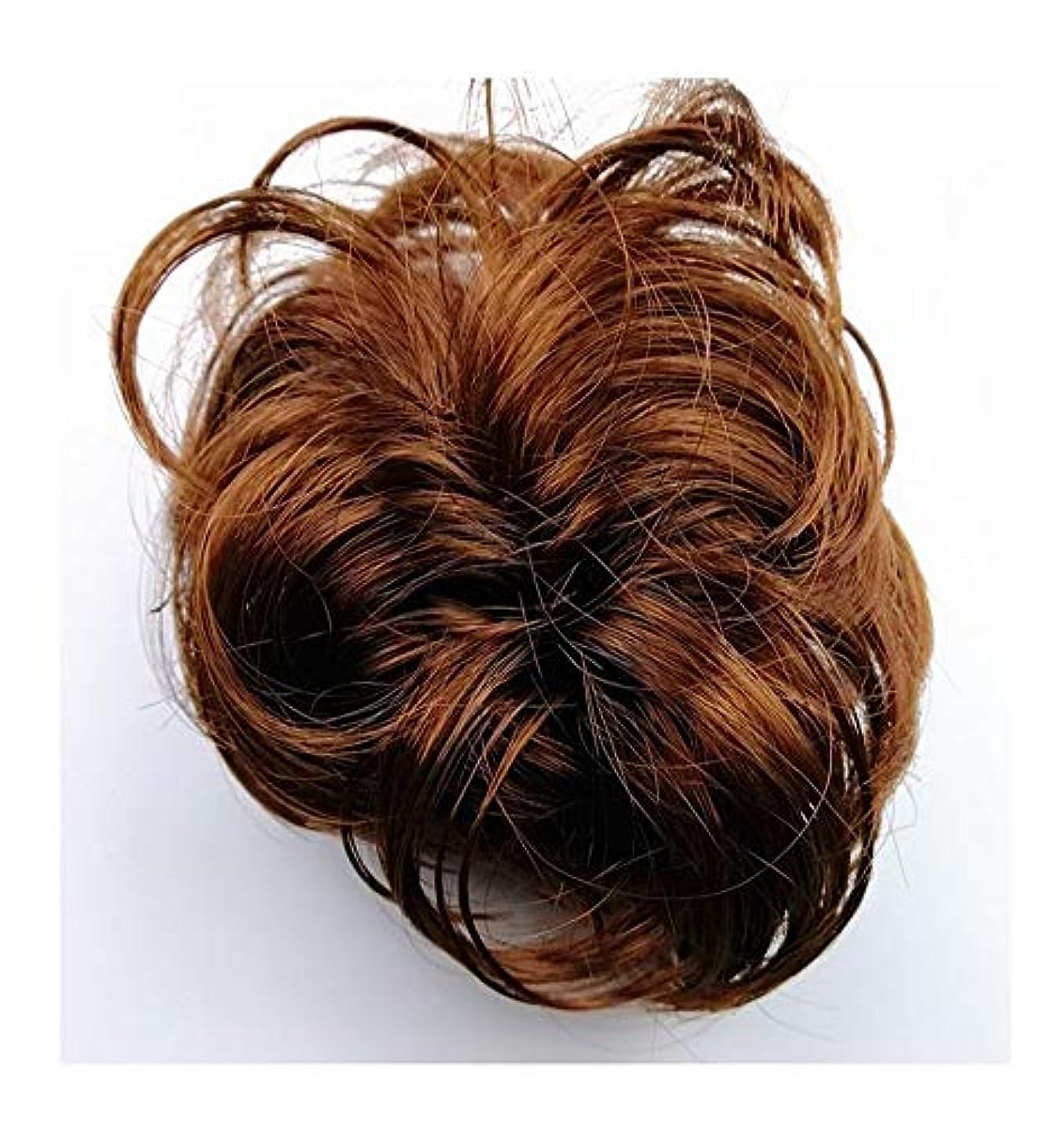 受粉者下手暗殺乱雑な髪のお団子シュシュの拡張機能、女性用カーリー波状リボンアクセサリー、ポニーテールシニョンドーナツアップ