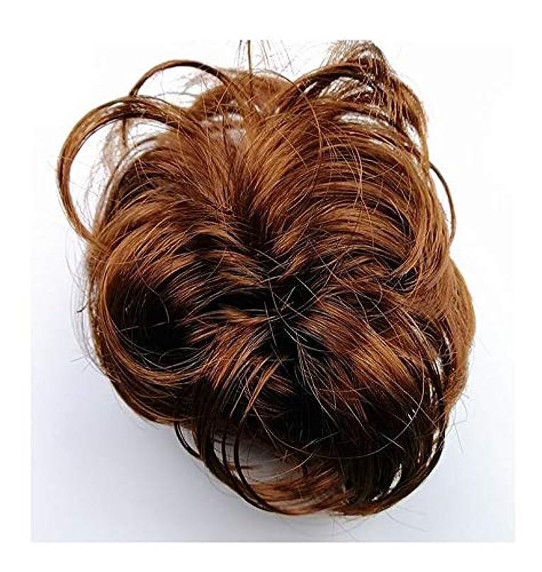 ブリードモス気体の乱雑な髪のお団子シュシュの拡張機能、女性用カーリー波状リボンアクセサリー、ポニーテールシニョンドーナツアップ