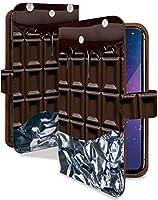 【KEIO】iPhone6s 手帳型 ケース カバー チョコレート お菓子 お菓子 チョコ柄 iPhone 6sケース iPhone 6sカバー アイフォン アイフォーン アイフォン6s 手帳型ケース 手帳型カバー チョコ スイーツ [板チョコ ビター/t0372]
