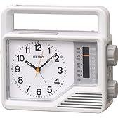 SEIKO CLOCK (セイコー クロック) アナログ 防災 目覚し時計 ラジオ 懐中電灯 手動発電機 KR870N