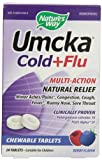 海外直送品 Nature's Way Umcka Cold & Flu, Berry Chewable 20 CT