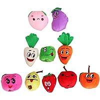 10pcsセット ベルベットの果菜 果物野菜 フィンガーパペット 指人形