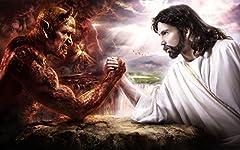 Good Versus Evil光沢ポスター写真イエスキリストDevil Satan God 40