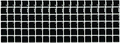 RoomClip商品情報 - 【 Dream Sticker 】モザイクタイルシール キッチン 洗面所 トイレの模様替えに最適のDIY 壁紙デコレーション ALT-19 ブラック Black 【 自作アートインテリア/ウォールステッカー 】 貼り方説明書付属 (1枚)