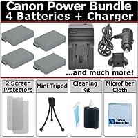 4lp-e8電池+ AC / DCターボ充電器+ Completeデラックススターターキットfor Canon EOS Kiss x4x5x6i DSLRカメラ
