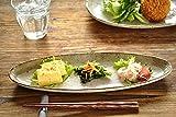 【M'home style】和食器 渕茶うのふ粉引サンマ皿