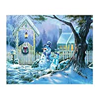 Fenteer ダイヤモンドペインティング 5D DIY 絵画 クリスマス 壁アート インテリア 装飾 全4種 - 雪だるま