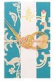 《ネコポス対応》(キステ)Kisste 小風呂敷 祝儀袋 5-6-01350 【B】:ブルー*クローバー (1351)