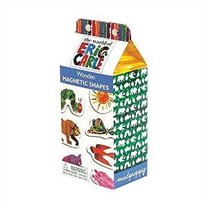 Mudpuppy (マッドパピー) はらぺこあおむし Eric Carle エリックカール 木製マグネットセット Wooden Magnetic Sets リサイクルウッド 35ピース The Very Hungry Catapillar