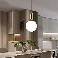 シーリングライト シングルペンダントランプ現代的なシンプルなガラスのシャンデリアベッドルームレストランの照明バルコニーバーランプ [エネルギークラスA ++] (色 : C, サイズ さいず : 20*40cm)
