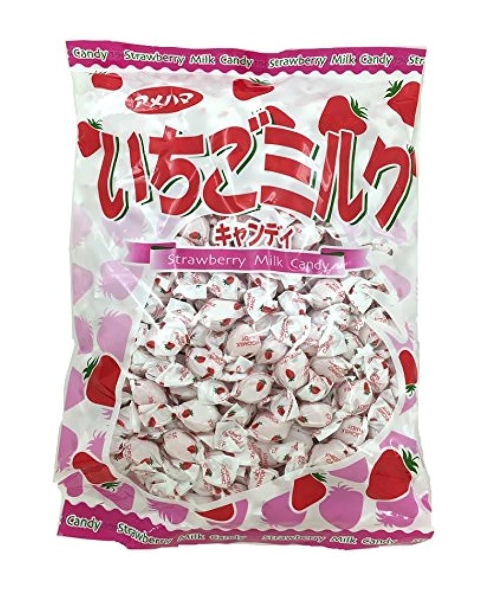 順番備品チャップアメハマ製菓 いちごみるくメガパック (1kg×1袋)