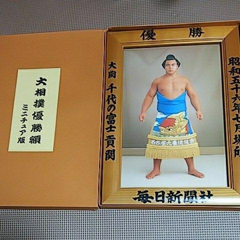 千代の富士 昭和56年7月場所 優勝額 大相撲 ミニチュア 毎日新聞社 力士 大関