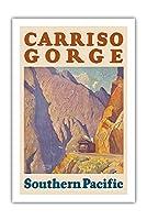 カリフォルニア州カリゾ渓谷 - 南太平洋鉄道 - ビンテージな鉄道旅行のポスター によって作成された モーリス・ローガン c.1929 - プレミアム290gsmジークレーアートプリント - 61cm x 91cm