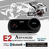 EJEAS バイク インターコム(インカム) 1200m通話 Bluetooth機能搭載 インターカム用ヘッドセット ブルートゥースステレオヘッドフォン