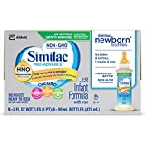 Similac Advance Non-GMO Newborn 8 Bottles with Nipple & Ring, 2 fl. oz by Similac