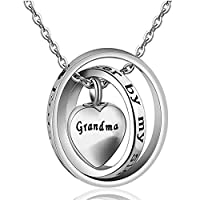 AYHUハートMemorial ccremation Urn灰ネックレス記念品ペンダントジュエリーfor Mom DadおばあちゃんSister Uncle–No Longer By My Side Forever in My Heart
